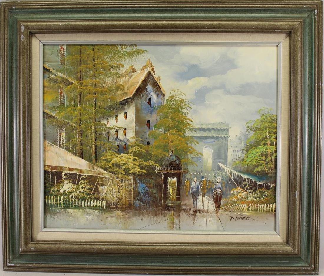 Rene Rambert (1901 - 1991) Paris Street Scene