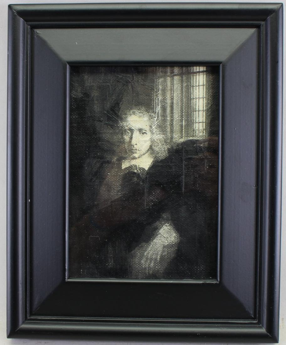 Antique Framed Print, After Rembrandt