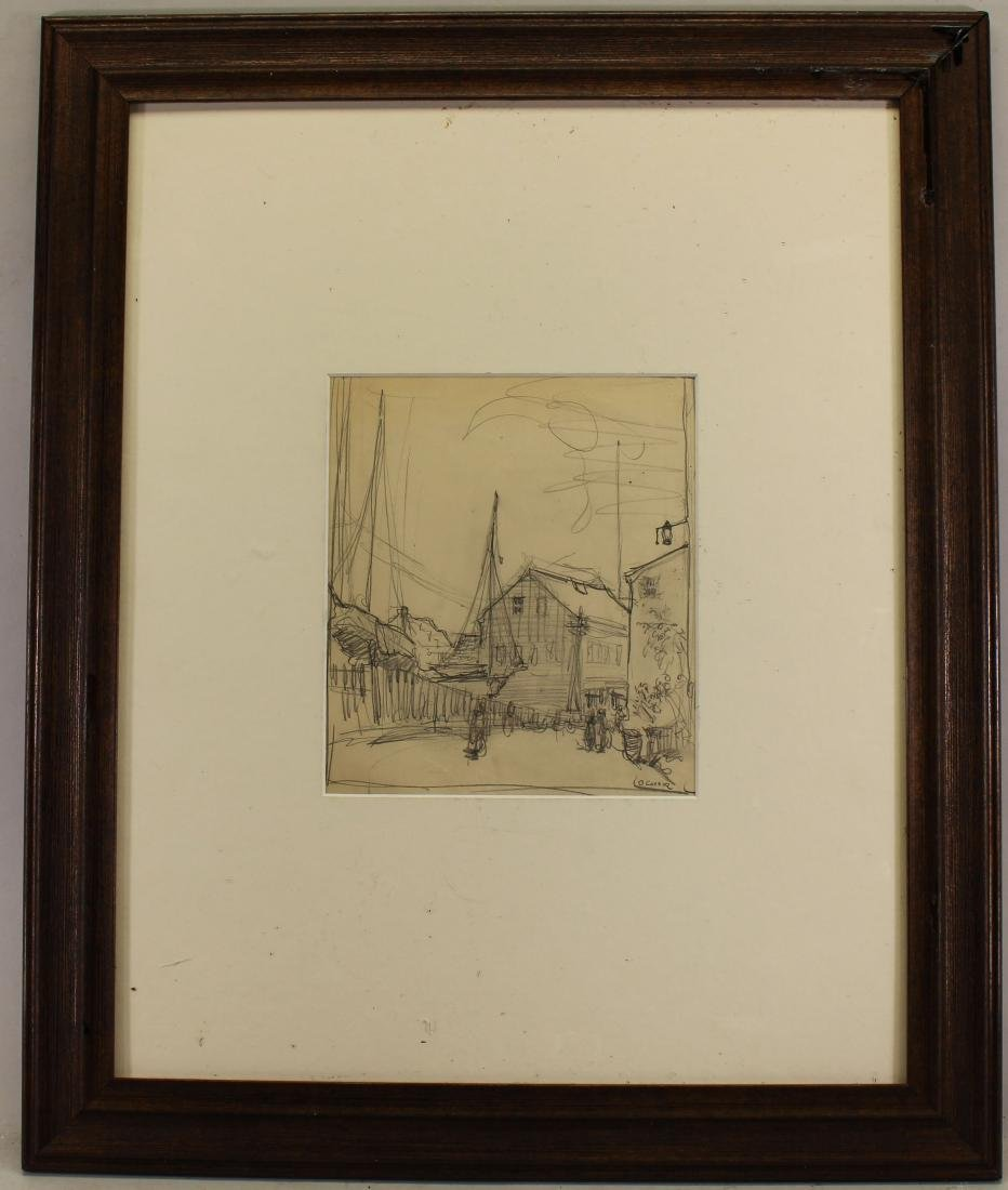 O' Connor, Signed Drawing of a Village
