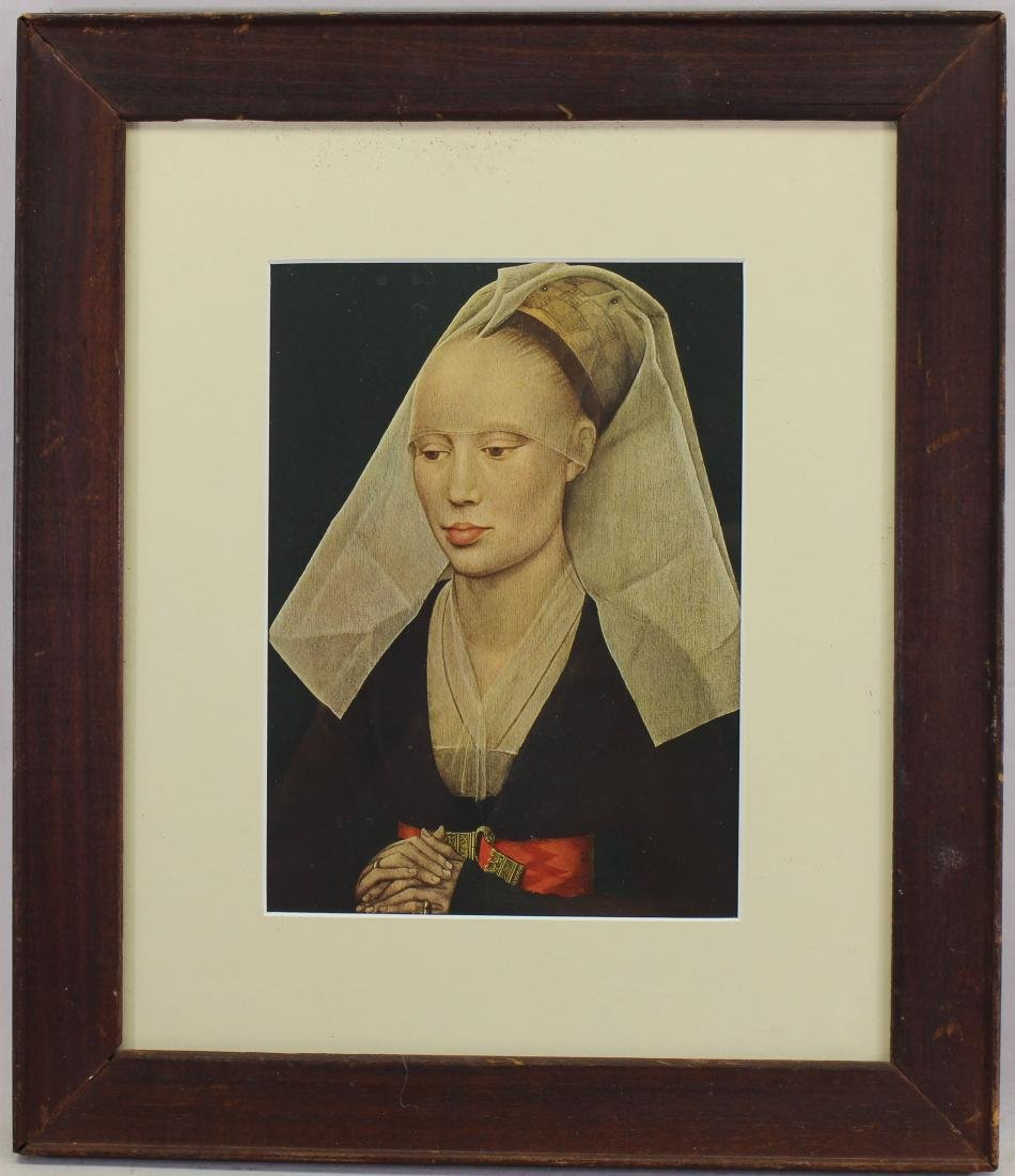 Antique Framed Print of a Woman