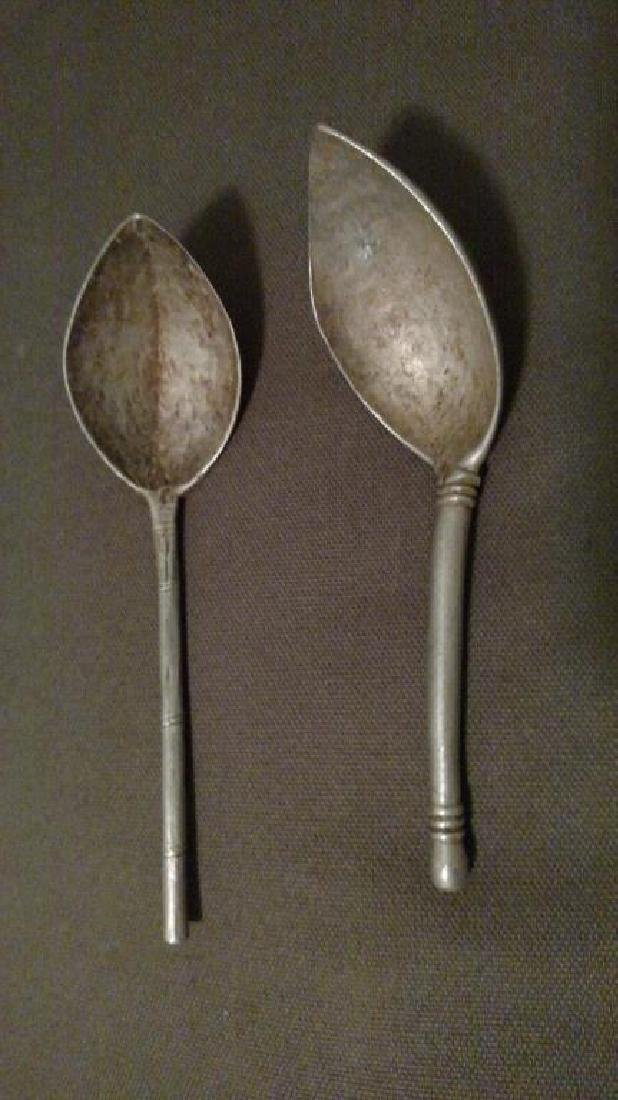 (2) Early 20th C. Dinka Ppl Metal Spoons