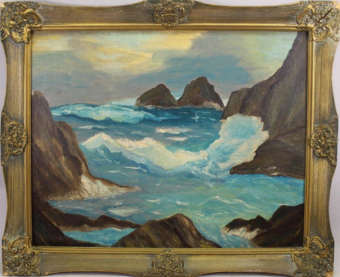 American School, 20th C. Coastal Landscape
