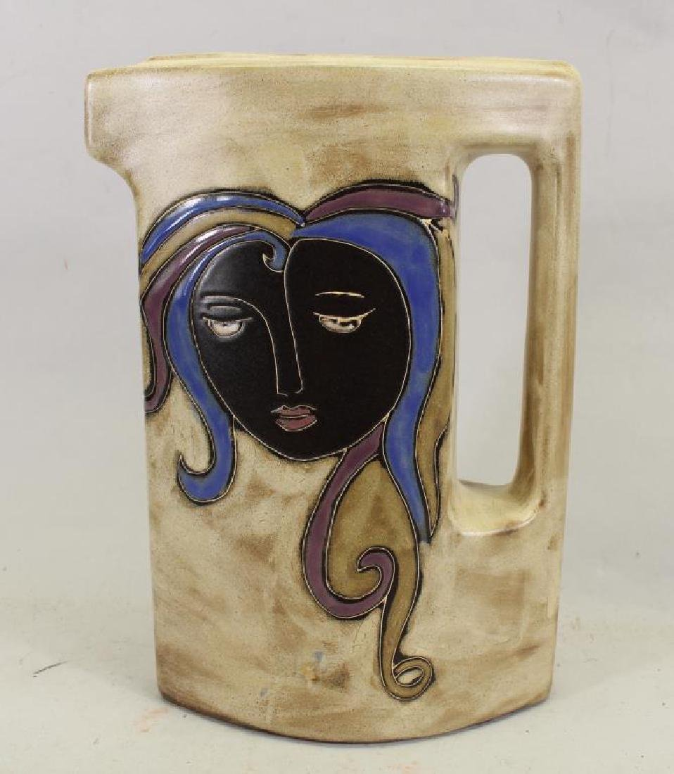 Signed Vintage Mexican Pottery Pitcher
