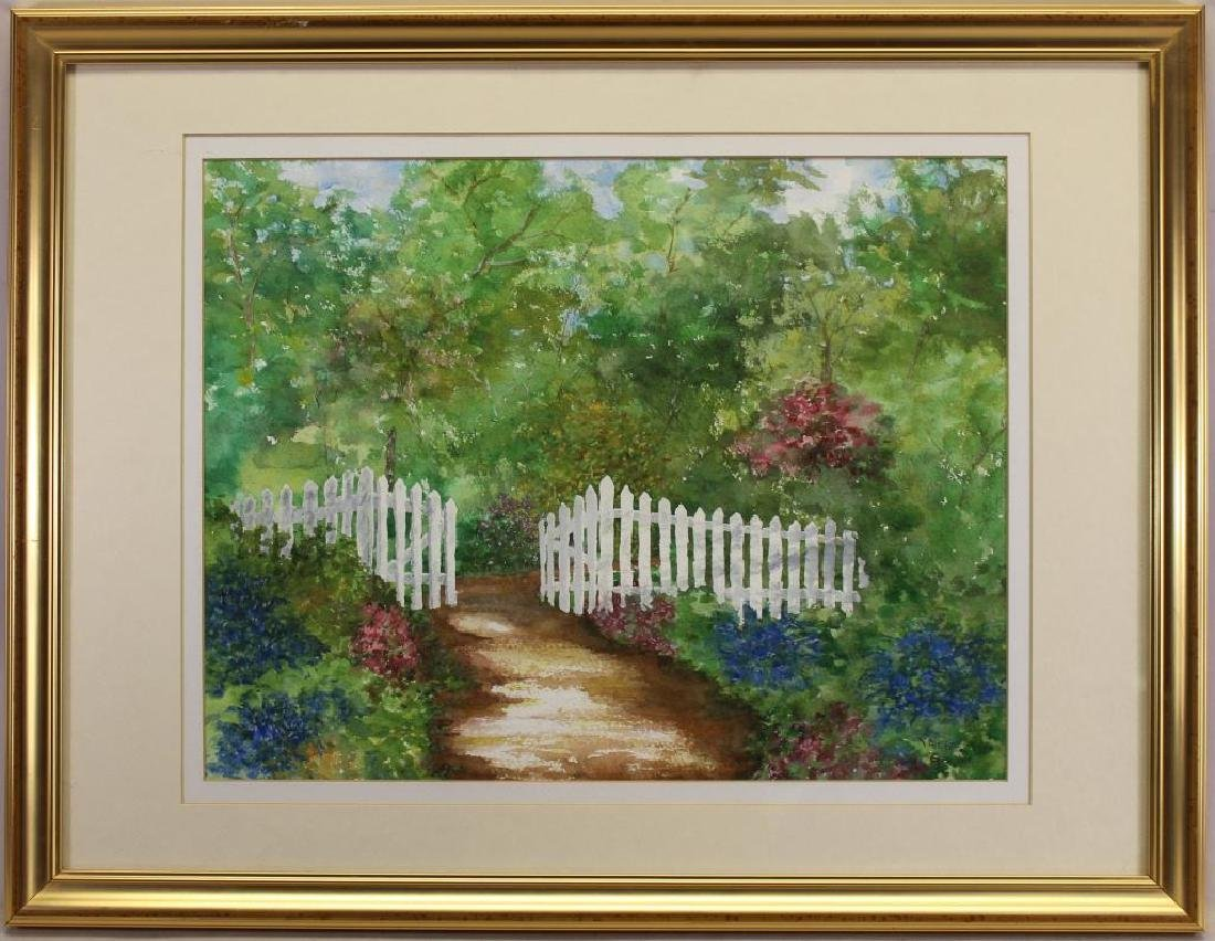 Valerie Geever, Painting of a Front Gate