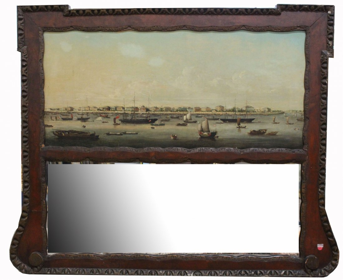 """Manner of Youqua (Ca. 1840-1870) """"View of the Hongs"""""""