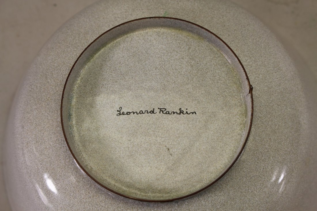 (2) Leonard Rankin Enameled Bowls, Signed on bottom - 2