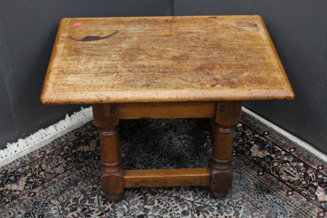 Antique American Wooden Stool