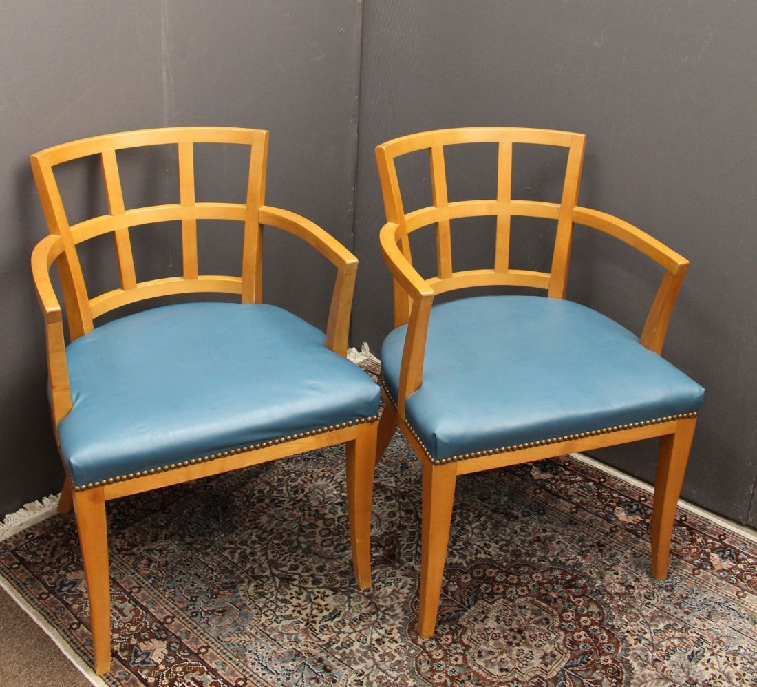 (2) Mid Century Modern Upholstered Armchairs