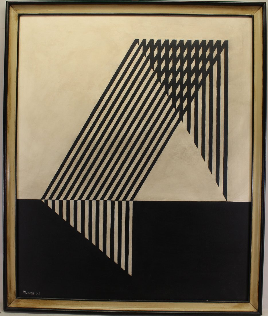 Moses, '63 Signed Geometric Abstract Painting