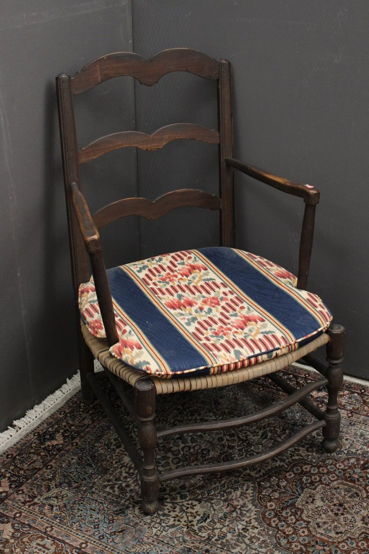 (2) Antique American Wooden Armchairs.