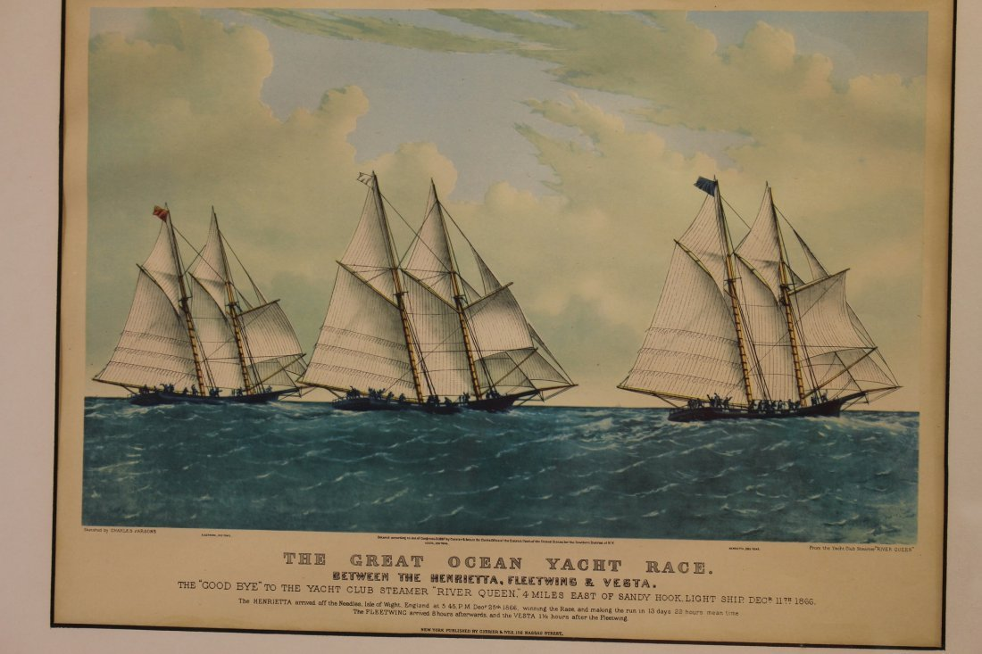 (2) Finely Framed Antique Nautical Prints - 2