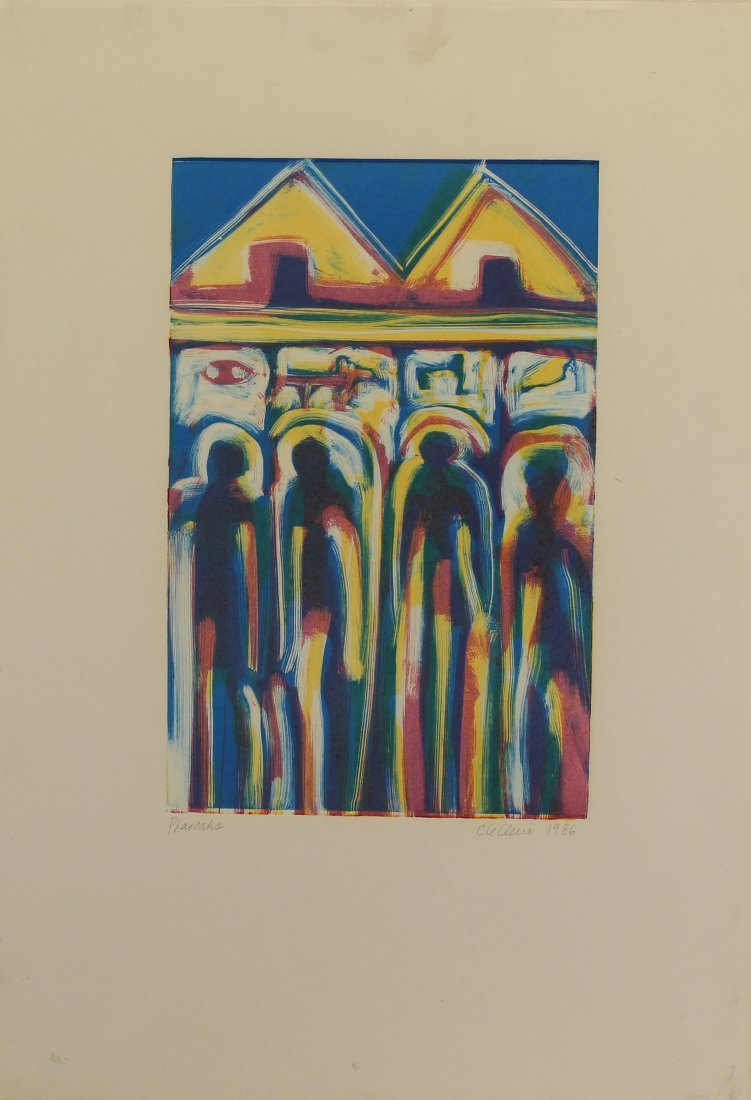 """Pharoahs"" 1986 Signed Lithograph"