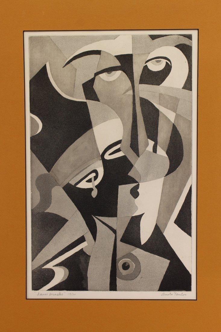 "Anita Fenton (American 1902-1970) ""Dance Masks"""