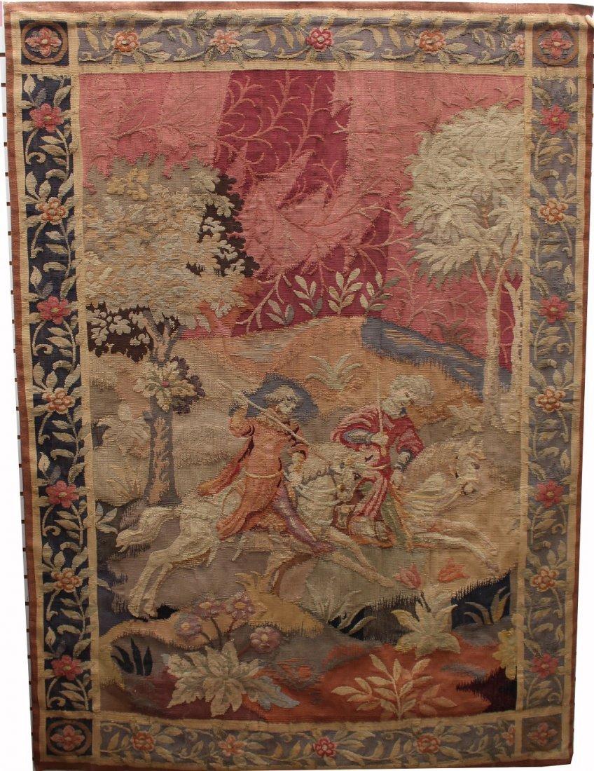 Antique European Tapestry, Provenance: Ursula
