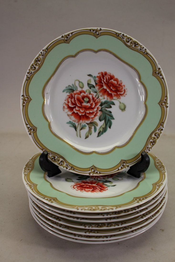 (8) Piece French Porcelain Dessert Dishes
