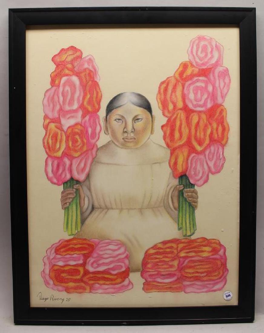 "Attr. Diego Rivera ""Vendedora de Flores"""