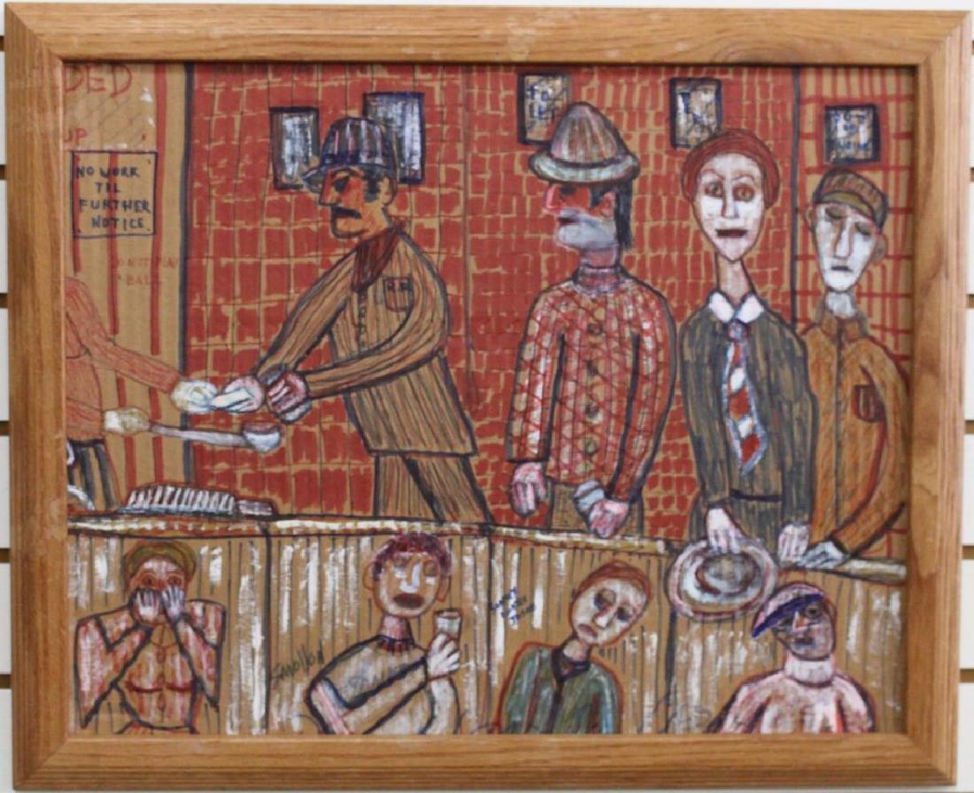 """Joey Smollen (1927-2001) """"Soup Kitchen"""" 1933"""