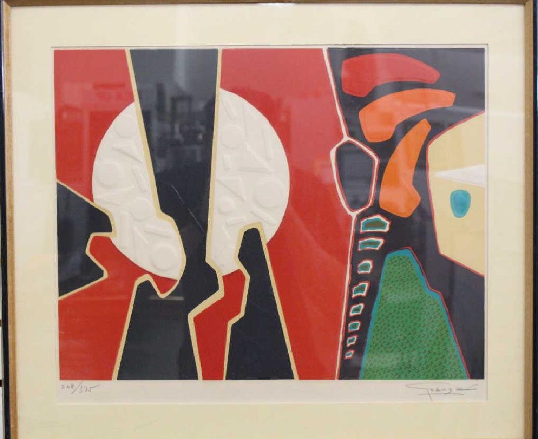 Signed Vintage Abstract Lithograph
