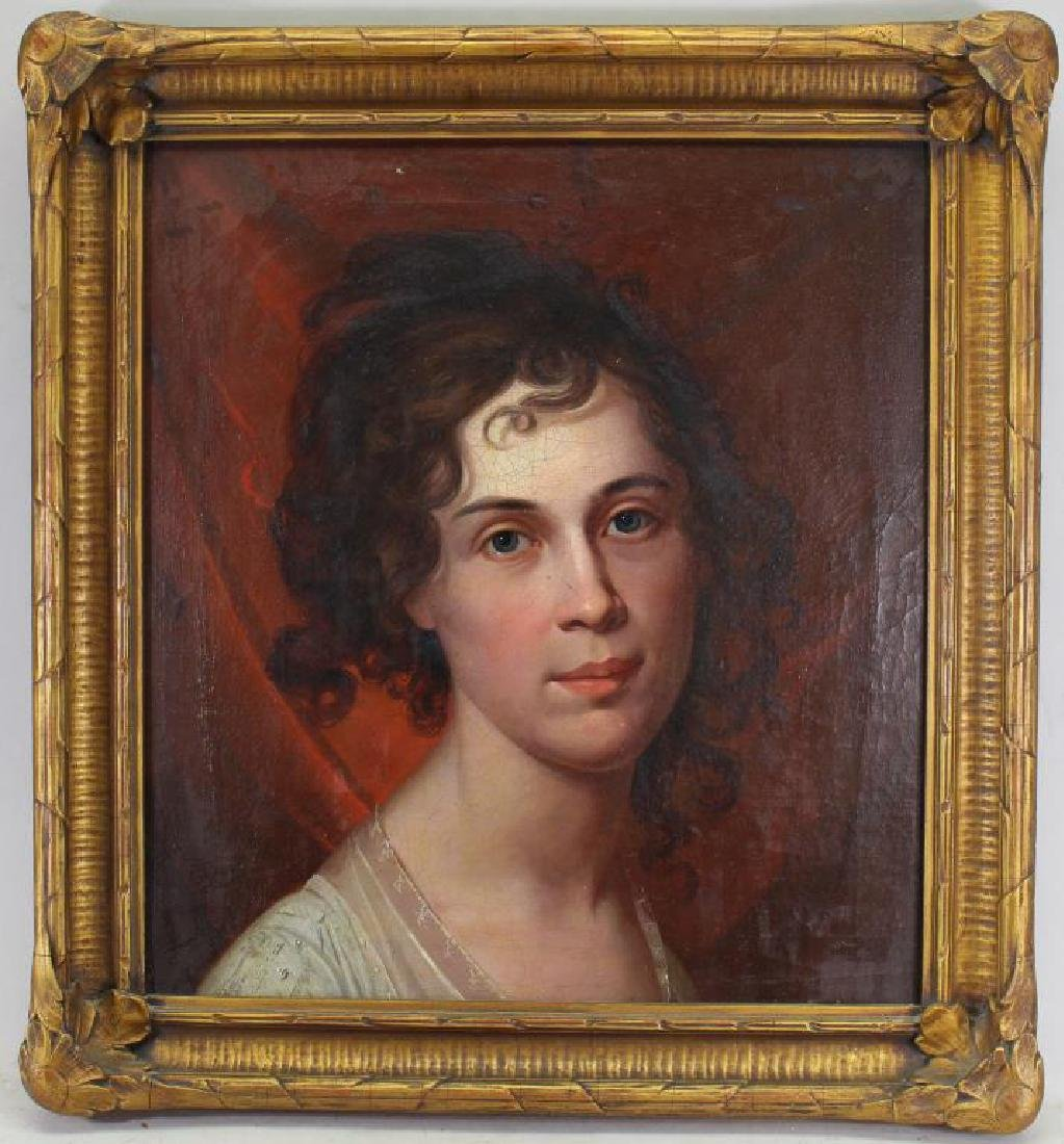 19th C. European School Portrait of a Woman