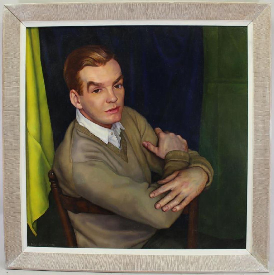 """Luigi Lucioni (1900 - 1988) """"Peter Scott"""""""