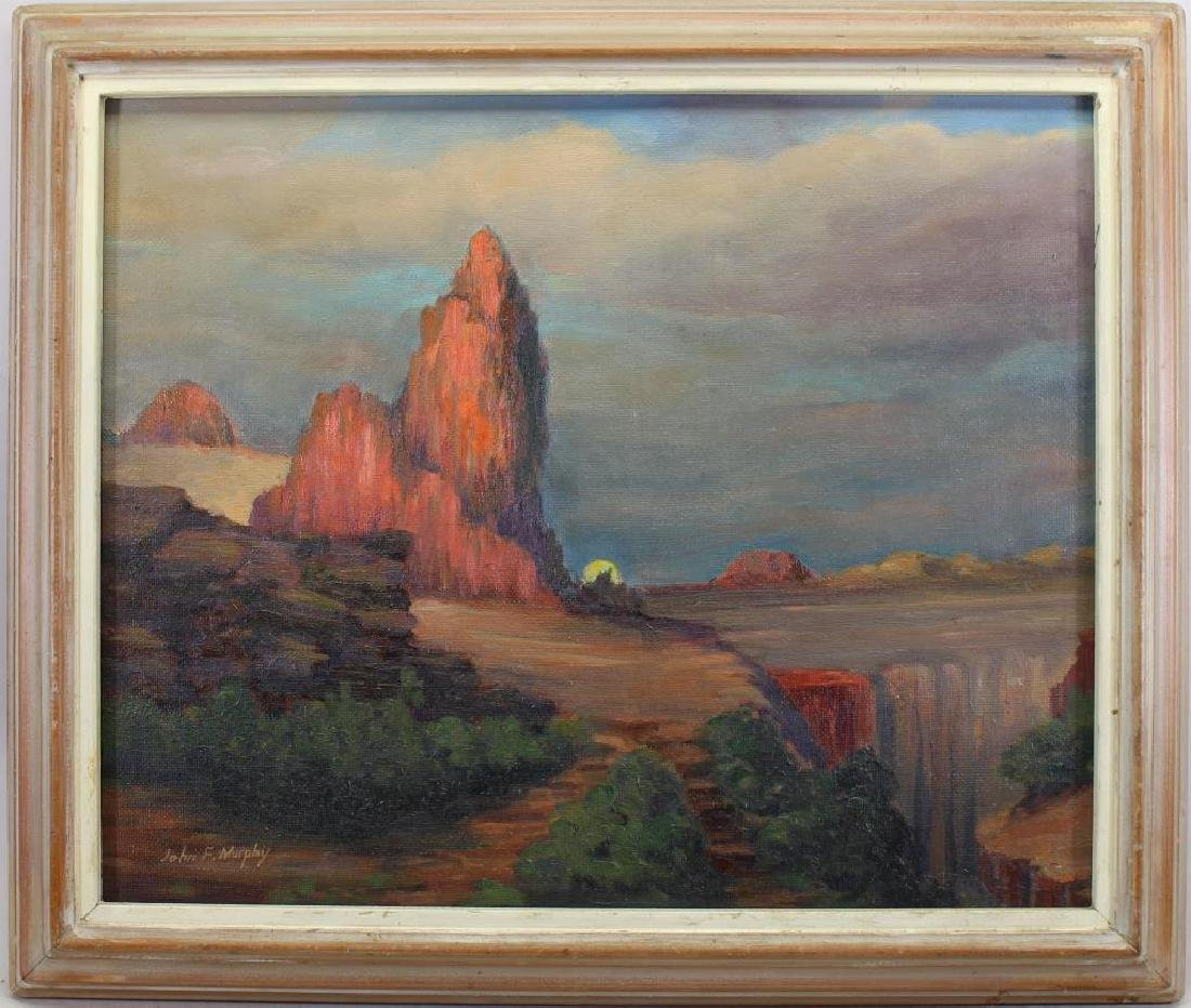 """Desert Cathedral"" John F. Murphy (20th C.)"