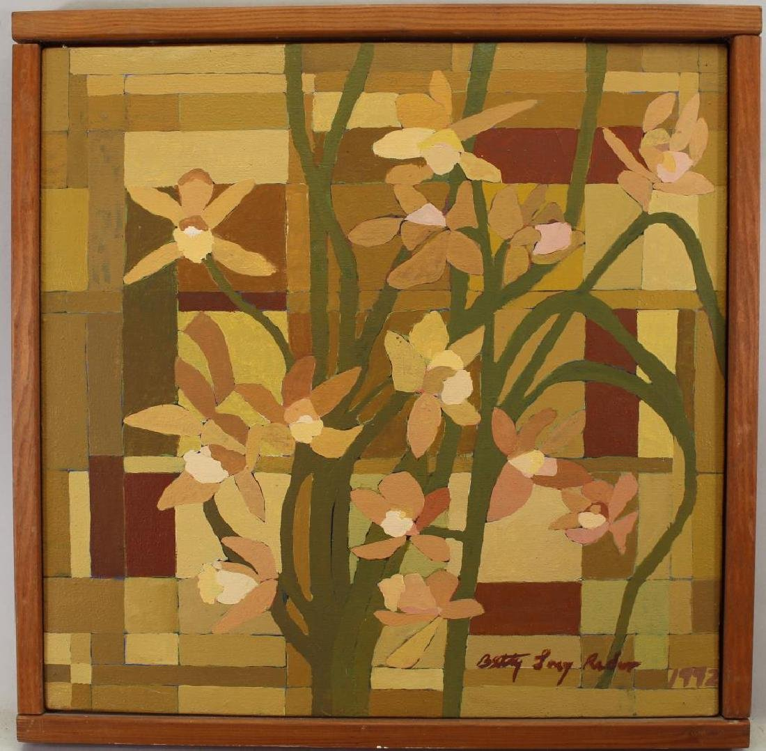 """Brown Orchids"" Betty Long Rader (20th C.)"