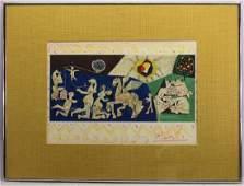 "Pablo Picasso (1881-1973) ""La Guerre"" Lithograph"