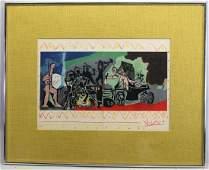 """Pablo Picasso (1881-1973) """"La Paix"""" Lithograph"""