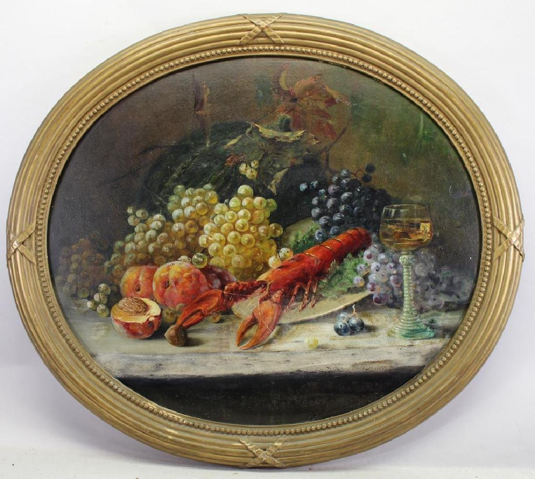 19th C Classic European Still Life, Signed Rossler