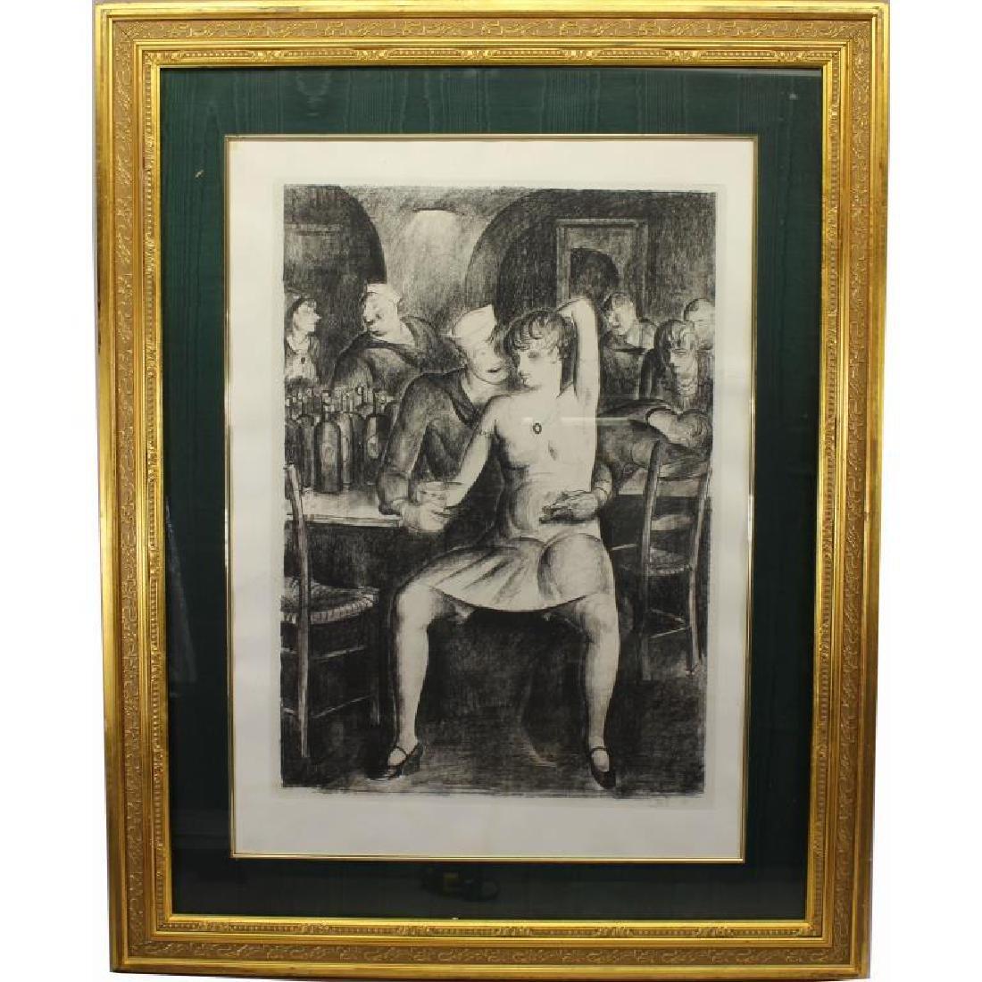 "Clark Fay (1894 - 1955) ""Bar Room Scene 1935"""