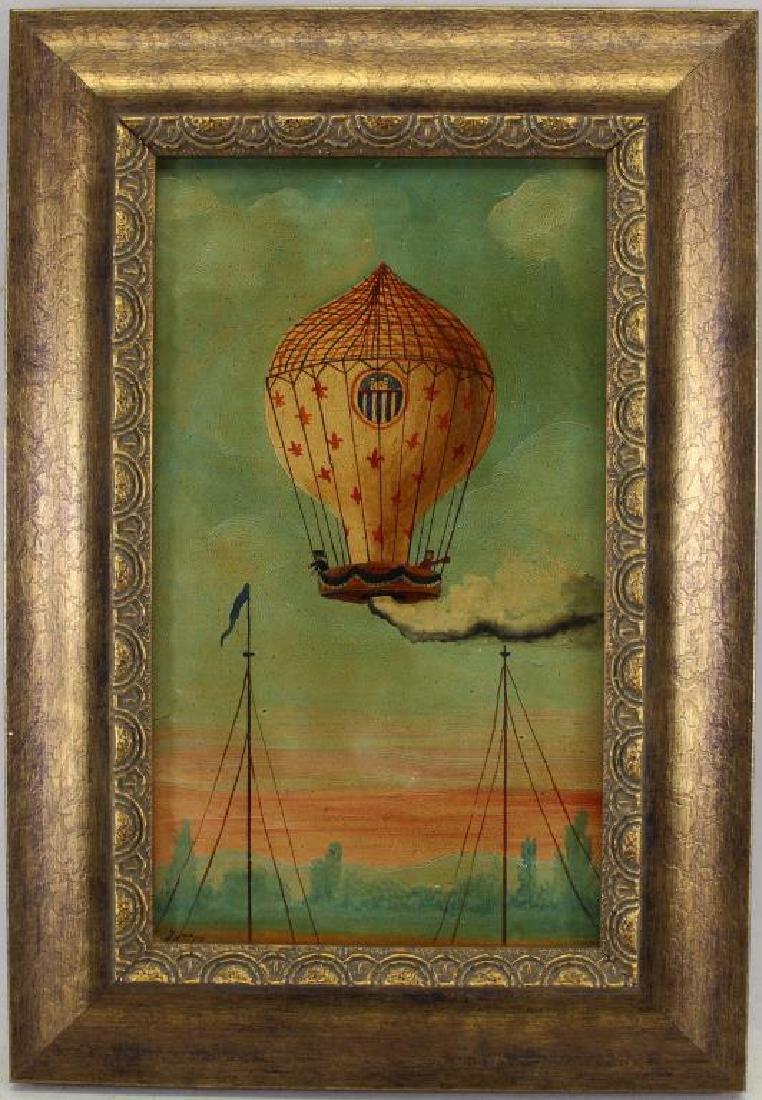 Hector Trotin (1894 - 1966) Hot Air Balloon