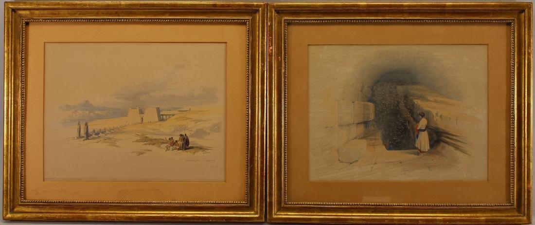 2 David Roberts (1796-1864) Orientalist Engravings