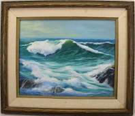 Ruth Weaver 20th C American Coastal Seascape