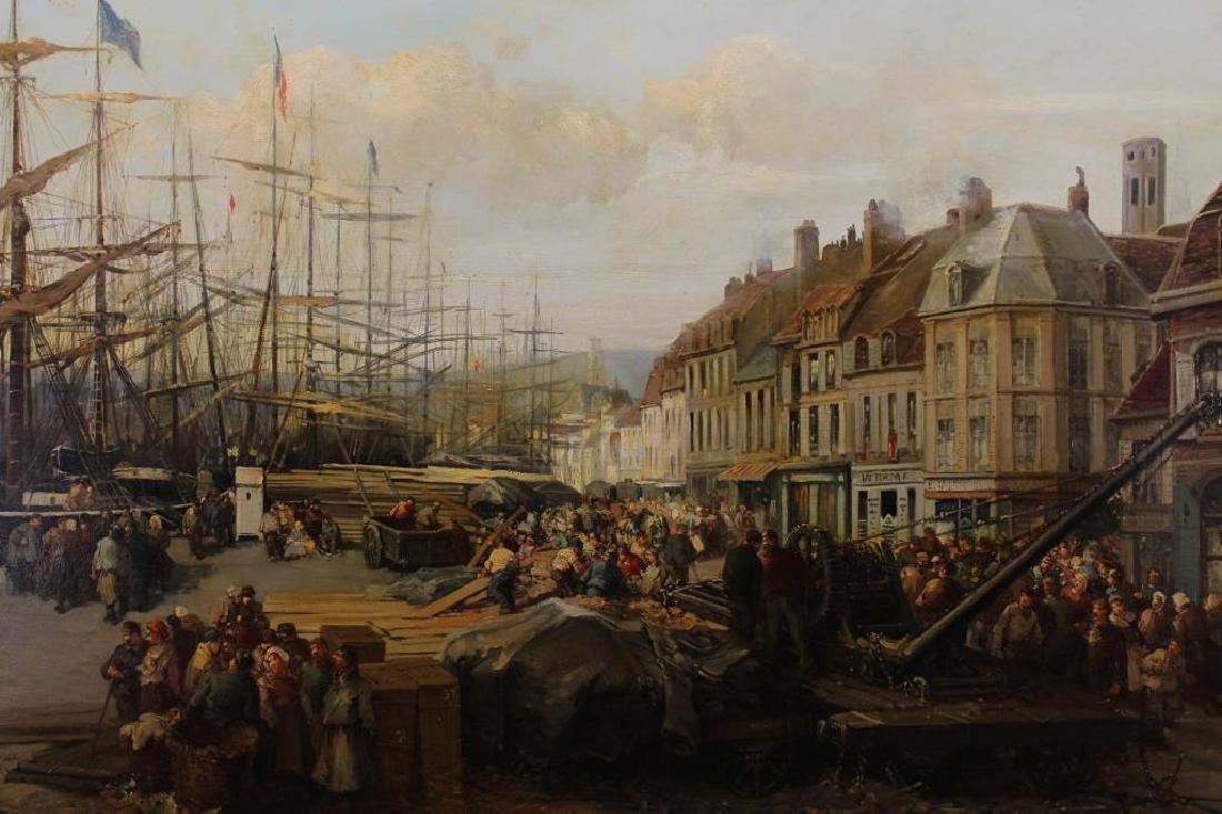 """Paul Ling (Dutch, 19th C.) """"Quay Des Hollandais"""" - 2"""