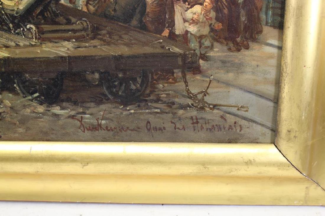 """Paul Ling (Dutch, 19th C.) """"Quay Des Hollandais"""" - 3"""