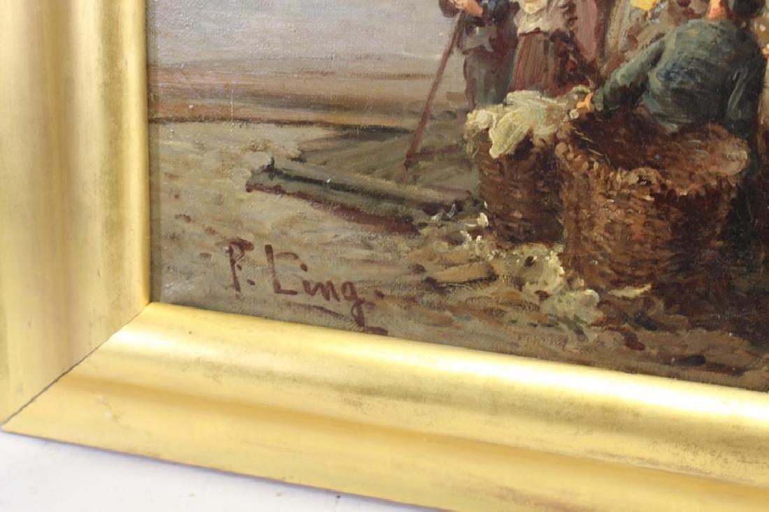 """Paul Ling (Dutch, 19th C.) """"Quay Des Hollandais"""" - 4"""