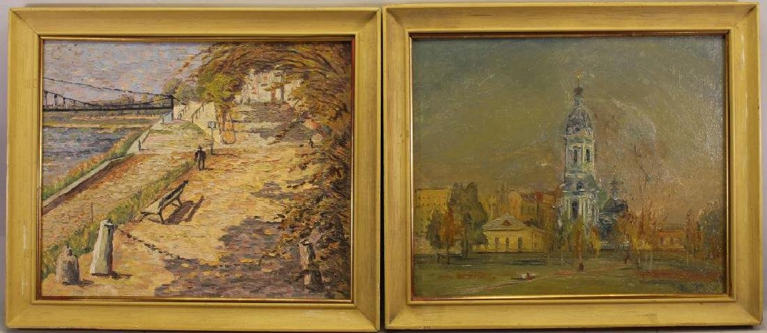 (2) Signed Russian Impressionist Paintings
