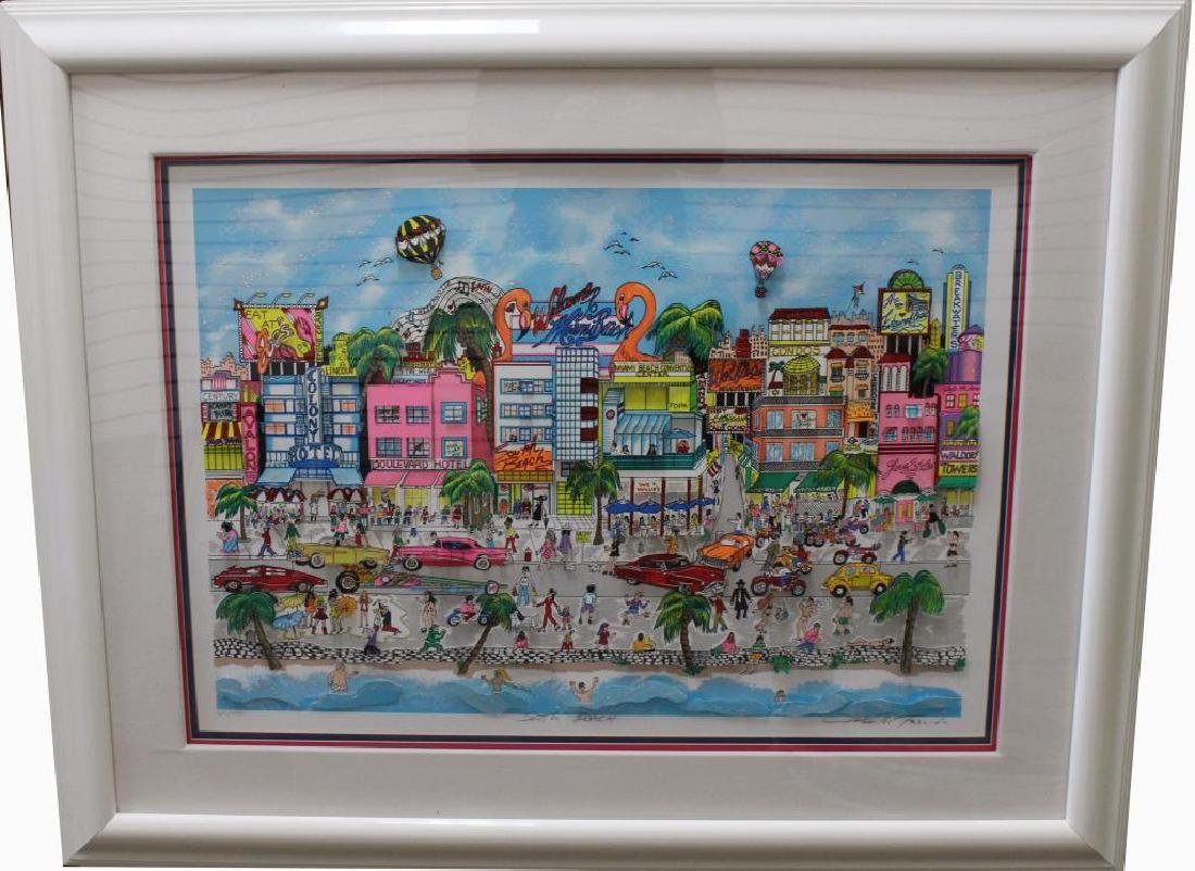 """South Beach"" Charles Fazzino (born 1955)"
