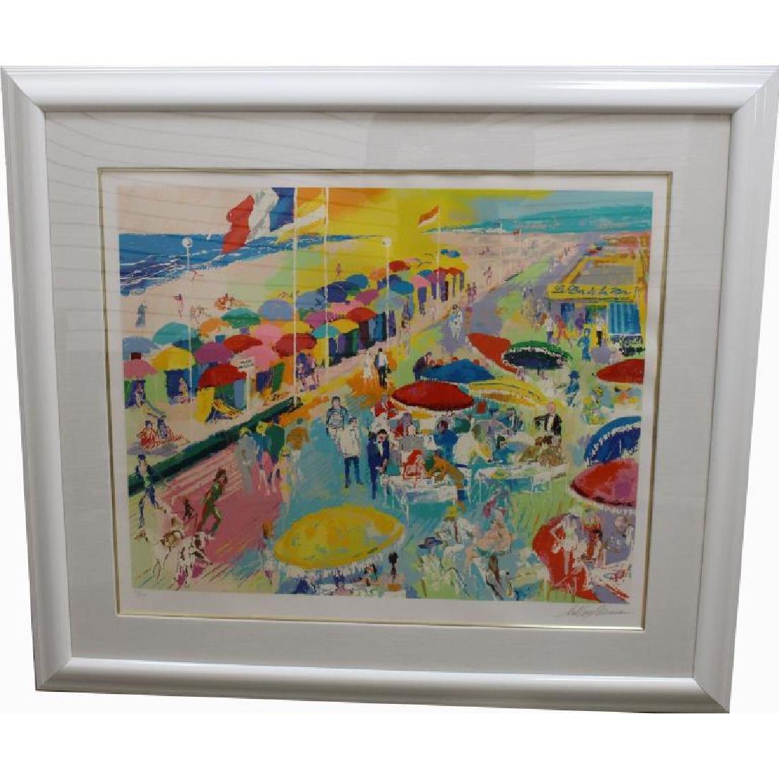 """Leroy Neiman """"La Plage Au Deauville 1986"""""""