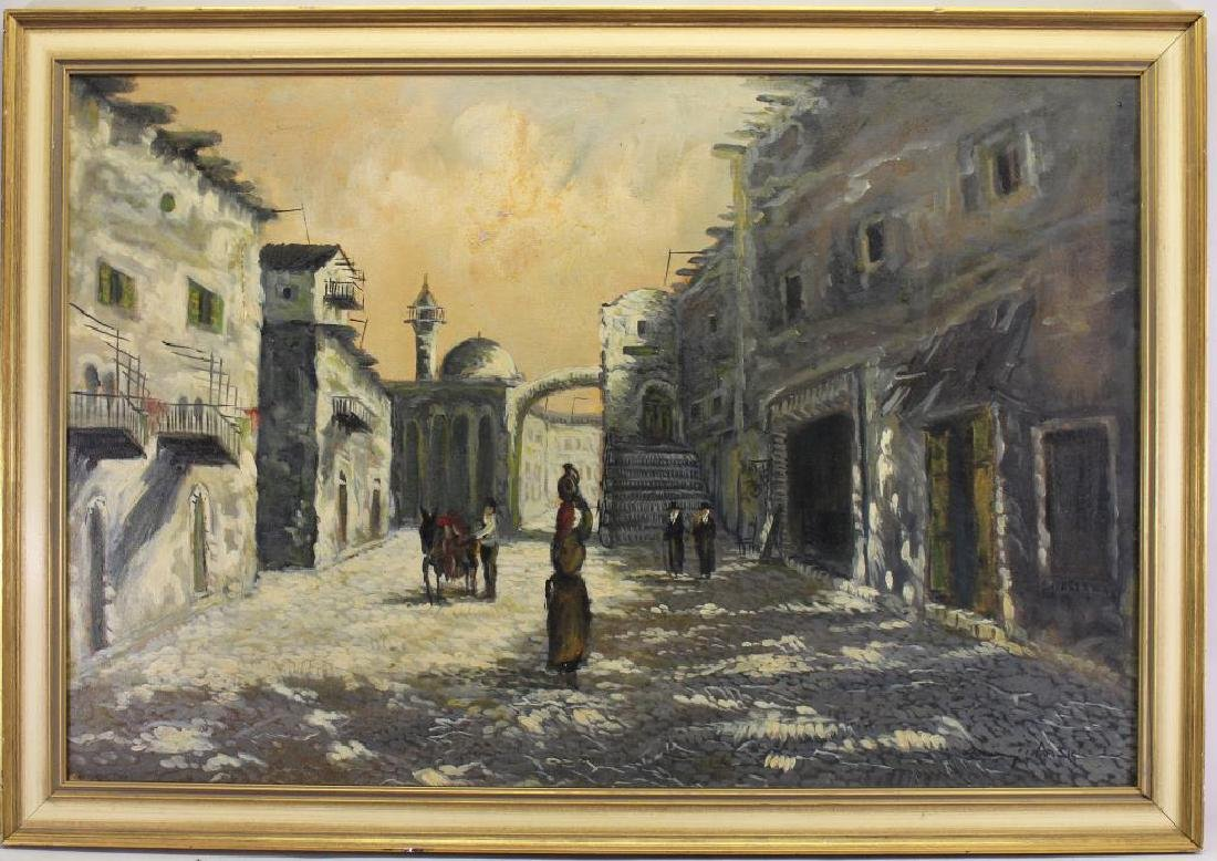 Jerusalem Street Scene with Figures, Early 20th C