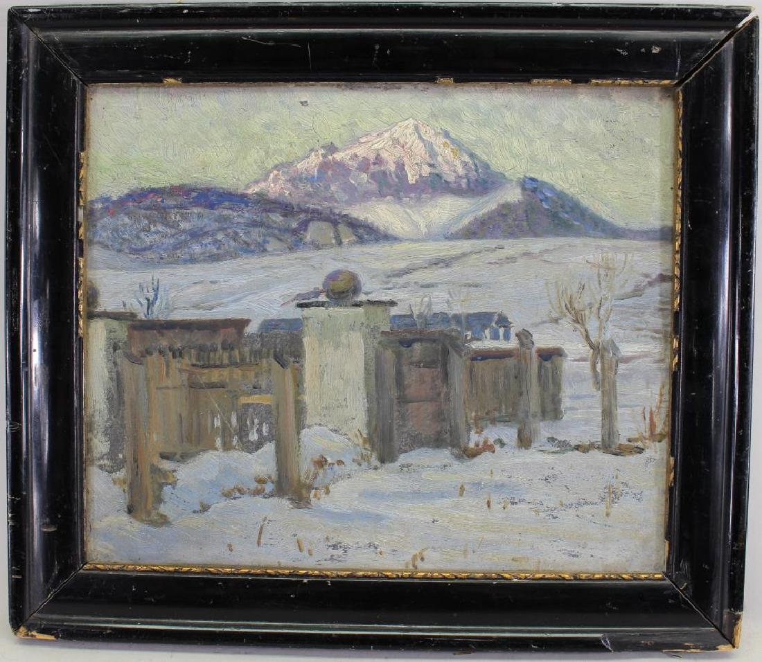 Russian School, Painting of a Winter Landscape