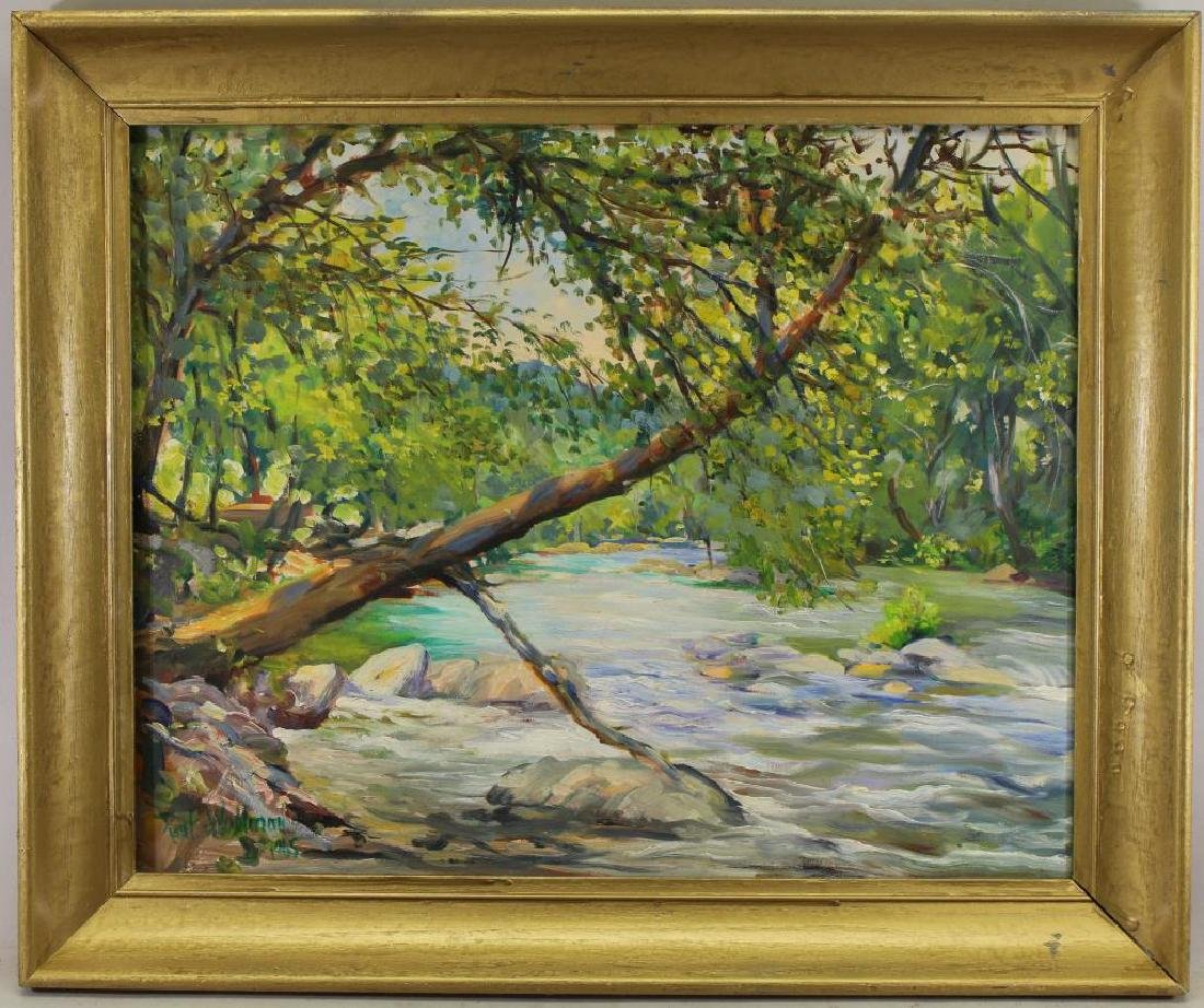 Paul Wohlman, 20th C. Cherokee NC River Landscape