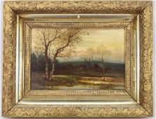 Signed Hudson River School Landscape, 19th C.