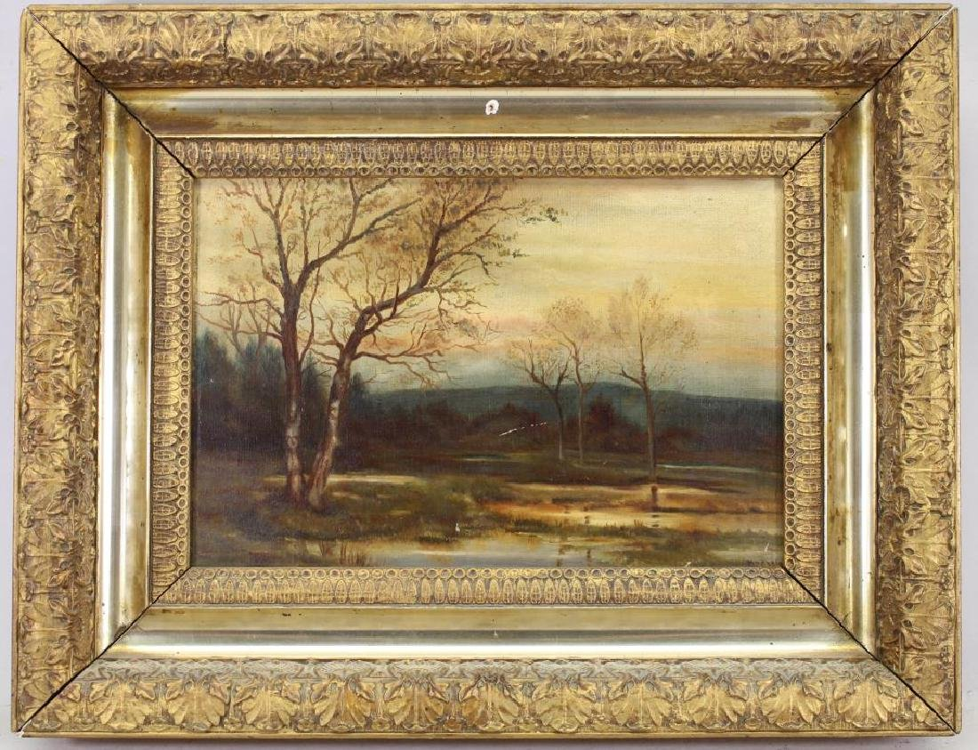 Signed Hudson River School Landscape, 19th C.
