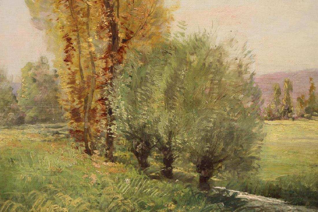 Filly, Signed Antique Spring Landscape Painting - 2