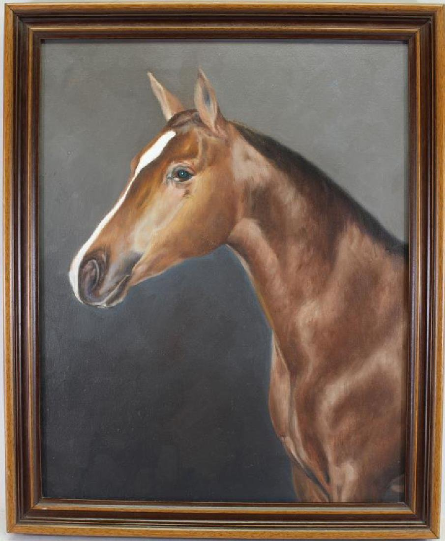 Vintage American School Horse Portrait