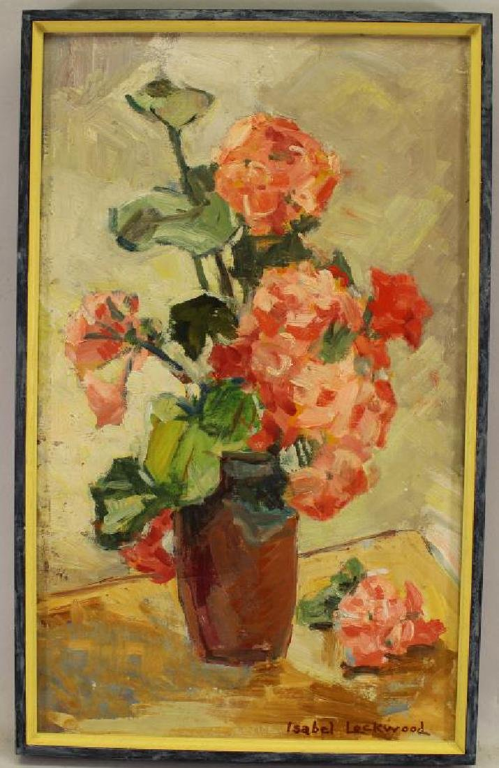 """Geraniums"" Isabel Lockwood (California, 20th C)"