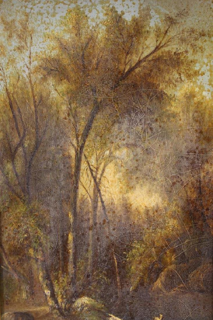 American School Painting of a Wooded Landscape - 2