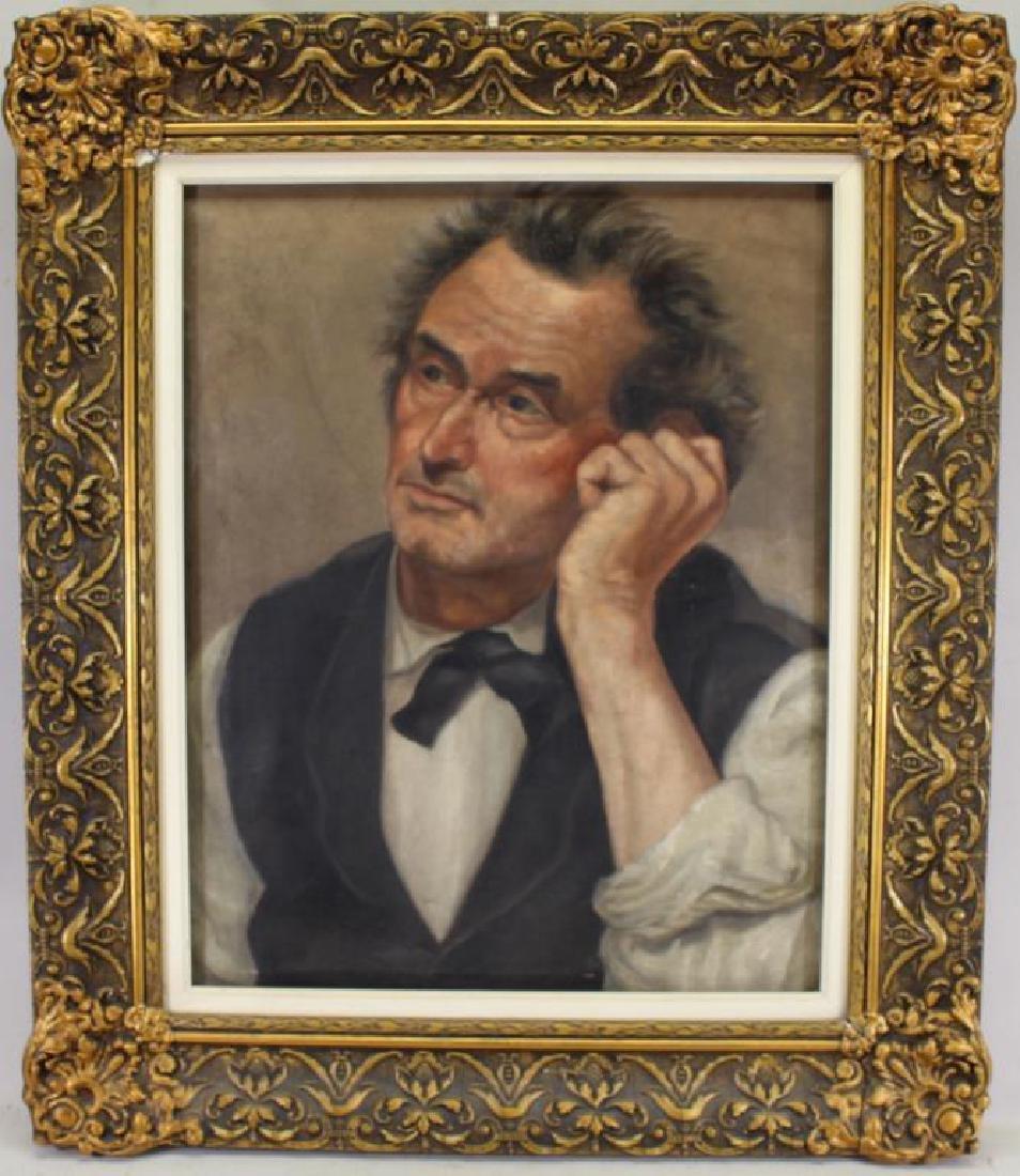 American School, Early 20th C. Portrait of a Man