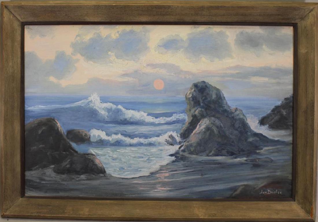 Jan Driefer 20th C. Coastal Painting